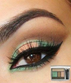 """Tutorial: """"Peach And Green Makeup"""" - Click the image for the Tutorial!"""
