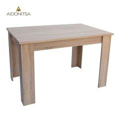 Τραπέζι Κουζίνας 120x80x75. Από την Alphab2b.gr Dining Bench, Dining Room, Table, Furniture, Home Decor, Products, Decoration Home, Table Bench, Room Decor