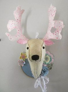Charlie barlee reindeer heads by Bustle & Sew, via Flickr