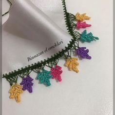 Hayran Kalacağınız 35 Tığ İşi Oya Modelleri Bunt, Crochet Necklace, Create, Jewelry, Knitting And Crocheting, Tricot, Blue And White, Beads, Homemade