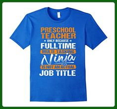 Mens PRESCHOOL TEACHER - Ninja Job Title Funny T-Shirt 3XL Royal Blue - Careers professions shirts (*Amazon Partner-Link)