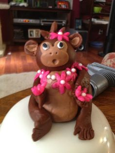 My monkey cake topper