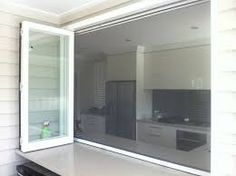 Image result for stacking doors with fly screen
