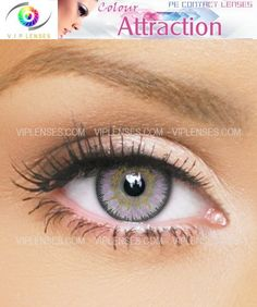 Color Attraction Light Amethyst Contact Lenses | VIP Lenses