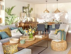 Decor, Home Decor Accessories, Home Decor Bedroom, Living Dining Combo, Home Decor Online, Living Room Zones, Home Decor, Blue Living Room Decor, Living Room And Dining Room Design