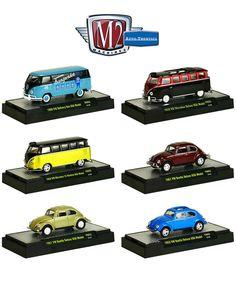 Diecast Auto World - M2 Machines 1/64 Scale Set Of 6 Auto Thentics VW Volkswagen Bus Beetle Bug 32500-VW03, $34.99 (http://stores.diecastautoworld.com/products/m2-machines-1-64-scale-set-of-6-auto-thentics-vw-volkswagen-bus-beetle-bug-32500-vw03.html/)