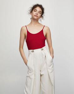 Body côtelé bretelles - T-shirts - Vêtements - Femme - PULL&BEAR France