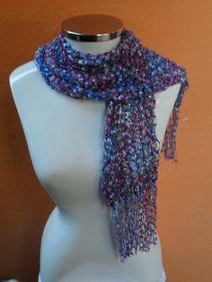 cachecol trico fio mosaico www.facebook.com/artesdairis?fref=nf