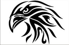 Majestic Eagle Tribal Vinyl Decal for sale! Tribal Tattoos, Tribal Drawings, Eagle Tattoos, Tribal Art, Tatoos, Plotter Cutter, Tribal Animals, Marquesan Tattoos, Japanese Embroidery