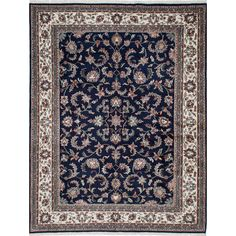 ecarpetgallery Hand-knotted Royal Mahal Blue Wool Rug