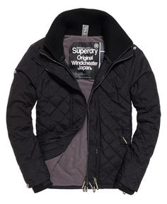 Superdry Quilted Arctic Windcheater Jacket  Black