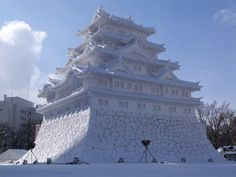Snow Festival is held in Japan Hokkaido. This sculpture is made of ice