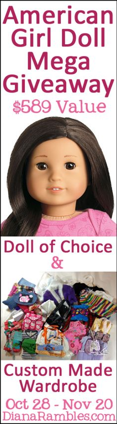 American Girl Doll & Custom Wardrobe Giveaway $589 Value