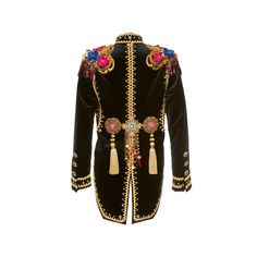 Dolce & Gabbana     Sequin Paillette Tailcoat Jacket ($23,000) via Polyvore featuring outerwear, jackets, cotton jacket, dolce gabbana jacket, brown cotton jacket, tailcoat jacket and sequin jacket