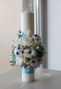 Flower Diy, Diy Flowers, Candels, Baby Style, Christening, Baby Room, Monkey, Diy Ideas, Candle Holders