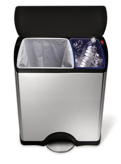 Simple Human Stainless Steel 46L Rectangular Recycling Bin