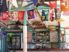 Soggy Dollar Bar .... Jost Van Dyke, Caribbean - The home of the best drink every - Painkiller!