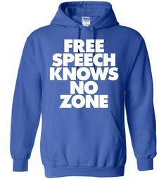 Free Speech Knows No Zone Gildan Heavy Blend Hoodie