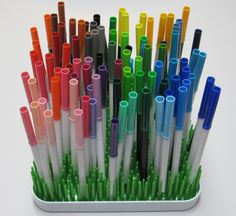 Boon Winter Grass Drying Rack Idea;colored pens;craft idea