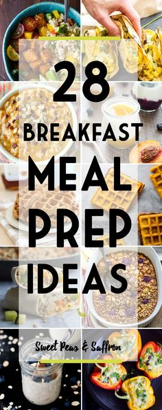 Tons of healthy breakfast meal prep ideas, broken down by category: egg-based, oatmeal, waffles/pancakes, and miscellaneous. Prep them ahead for a delicious, stress-freeand healthy start to your day. Back at it again with the breakfast meal prep ideas! Last year, I posted this round-up of 21 Healthy Make-Ahead Breakfast Recipes, and while I didn't know [...]