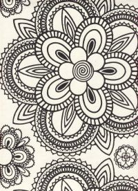 Would make a nice quilting pattern Doodle Patterns, Fabric Patterns, Print Patterns, Floral Patterns, Interior Wallpaper, Vintage 70s, Background Patterns, Pattern Wallpaper, Arts And Crafts