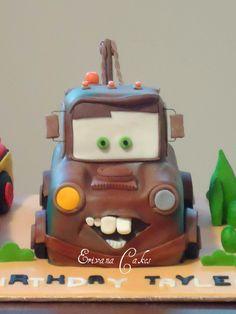 Or maybe this with a Lightning McQueen cake as well, but I made one of those a few years ago...