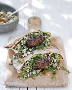 Lamb Burgers with Mint Feta Pesto from Williams-Sonoma -