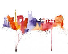 abstract-watercolor-paintings-famous-cities-elena-romanova-4