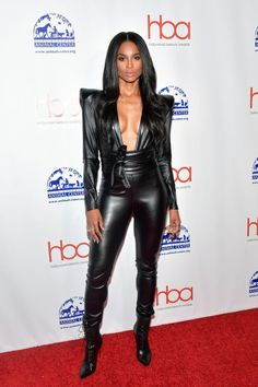 Leather Jumpsuit, Black Jumpsuit, Leather Pants, Black Leather, Michael Costello, Sexy Outfits, Brooke Burke, American Girl, Leder Outfits