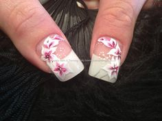 eye candy Nails & Training - Nails Gallery: Acrylic nails with purple and black freehand nail art by Elaine Moore on 4 April 2013 at 13:54