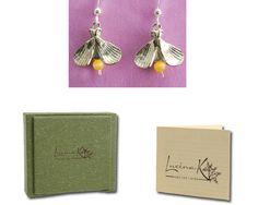 handmade firefly earrings
