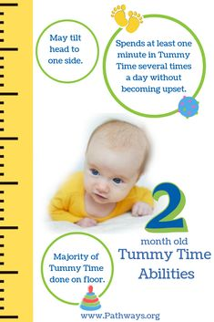 What can baby do during Tummy Time at 2 months old? Baby Tummy Time, Baby Time, 2 Month Old Milestones, Two Month Old Baby, Pediatric Physical Therapy, Baby Information, Baby Taylor, Baby Workout, 2 Month Olds