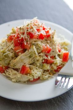 Springtime Pesto Chicken Rice Casserole is a flavorful and light dinner that the whole family will love. This pesto chicken recipe only requires 10 active minutes, so you can sit back and relax as the casserole bakes in the oven. Baked Pesto Chicken, Chicken Pesto Recipes, Chicken Meals, Turkey Recipes, Chicken Rice Casserole, Casserole Recipes, Italian Casserole, Cooking Recipes, Rice
