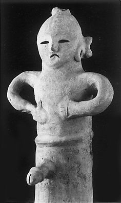 The man. Gunma Japan. The Kofun period (AD.250-AD.592) art, Haniwa terracotta clay figure.