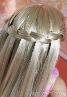 American Girl Doll Hairstyle: Waterfall Twist Braid!