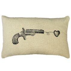 Sugarboo Designs Gun Heart Pillow