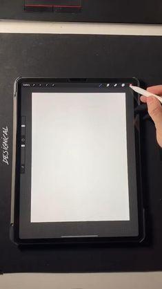 Digital Painting Tutorials, Digital Art Tutorial, Art Tutorials, Art Drawings Sketches Simple, Cool Drawings, Digital Art Beginner, Ipad Art, Diy Art, Digital Illustration