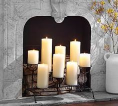 Candles In Fireplace Ideas cool, cozy home gear | glass holders, fireplace candles and