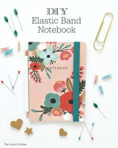 Cuaderno con goma elástica. DIY notebook