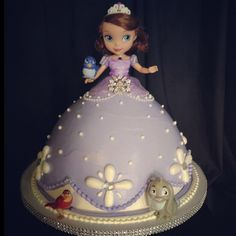 Sofia the First doll cake