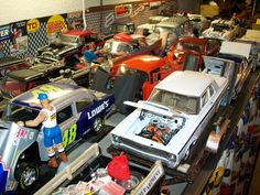 This is a small part of my 800 cars and trucks in a drag strip diorama by P.B. DIECAST SALES.