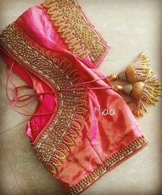 Latest Trending Silk Saree Blouse Designs - 2019 Update To make it easier for you, we have the top trending beautiful silk saree blouse designs so that you can choose the best for your saree look. Blouse Back Neck Designs, Simple Blouse Designs, Stylish Blouse Design, Simple Designs, Wedding Saree Blouse Designs, Pattu Saree Blouse Designs, Blouse Designs Silk, Lehenga Blouse, Dress Designs