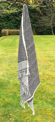 Thick luxurious hand- woven into a black and white dot pattern. By punica Ltd. Designed in Turkey Summer Essentials, Loom, Bliss, Organic Cotton, Hand Weaving, Turkey, Hands, Pure Products, Black And White