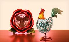 Groupon - Exhart Cool Winds Metal Sculpture Fans in [missing {{location}} value]. Groupon deal price: $34.99