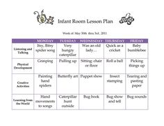 infant blank lesson plan sheets | toddler lesson plan 1 | LESSON ...