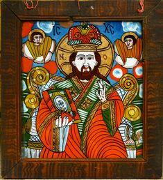 Iisus Pantocrator - Schei - gospodărie din Retiş Paul Klee, Art Icon, Orthodox Icons, Religious Art, Ikon, Folk Art, Christ, Arts And Crafts, Teacher