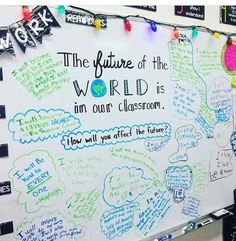 THE FUTURE OF THE WORLD IS IN OUR CLASSROOM- Great idea for an end of year activity.
