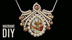 DIY Macrame Scarab Necklace | Pendant Tutorial #cabochons #macrame #jewelry #fashion #handmadejewelry #necklace #pendant #diycrafts #diyproject #gemstonejewelry #gemstone #beadedjewelry #tutorial #jewelrydesign #macramejewelry #macramenecklace