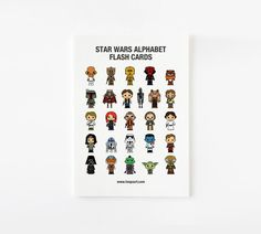 Cute Star Wars Alphabet Wall Cards Kids Wall Art 5 x 7 by loopzart