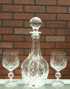 Crystal Wine or Cognac Bottle Set by ArtMaxAntiques on Etsy